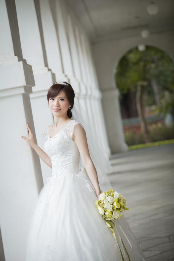 婚紗實拍-手工白紗