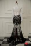 手工婚紗推薦:古典牡丹花晚禮服