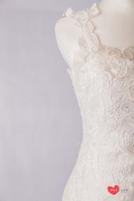 手工婚紗推薦:奧地利蕾絲白紗