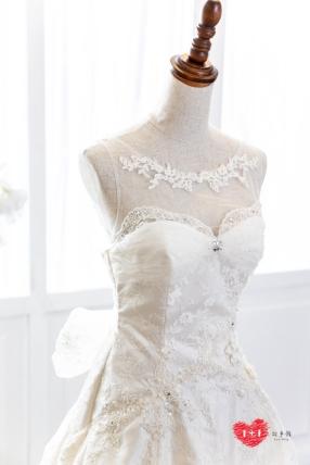 手工婚紗:清新粉花漾禮服